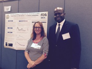 Dr. Michele Jay-Russell and Mr. David Oryang at Poster Presentation