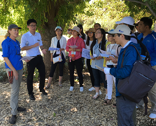 One Health for Food Safety visits UC Davis Student Farm
