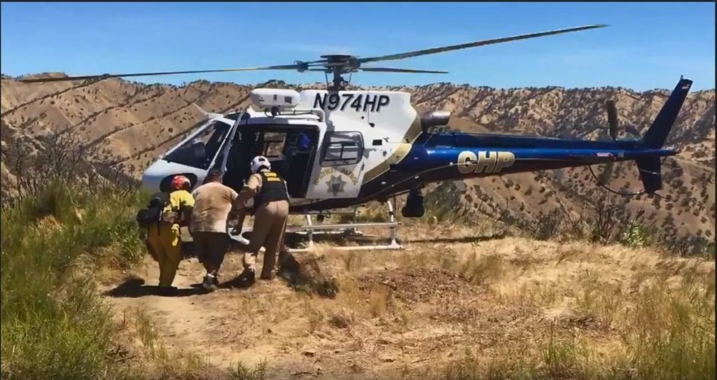 CHP helicopter rescues injured hiker
